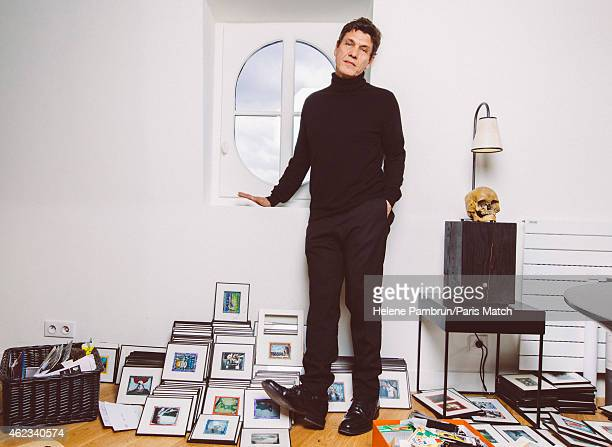 Singer and actor Marc Lavoine is photographed for Paris Match on January 11 2015 in Paris France