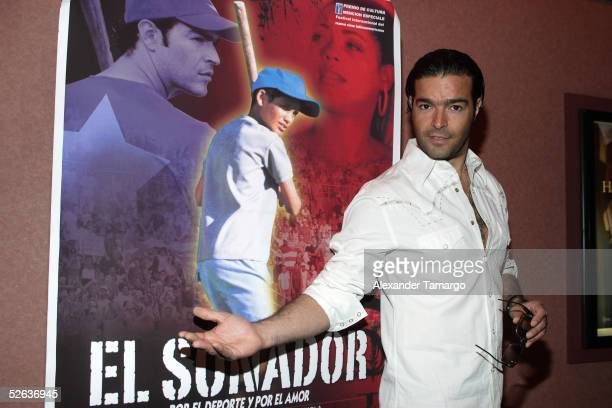 Singer and actor Pablo Montero poses as he arrives at the opening night of the Miami Latin Film Festival on April 15 2005 in Coconut Grove Florida