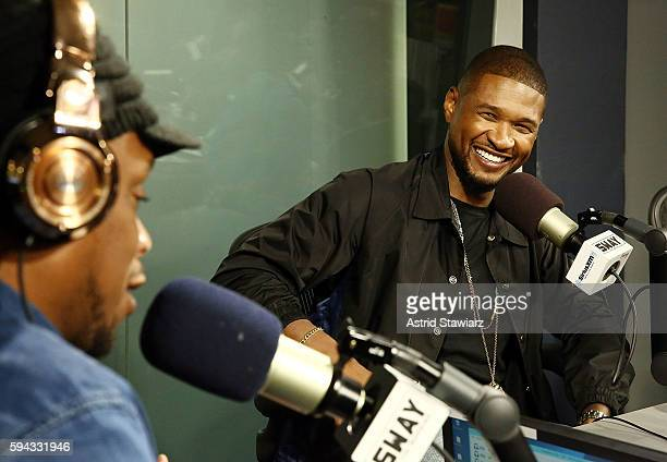 Singer and actor Usher visits 'Sway in the Morning' with Sway Calloway on Eminem's Shade 45 at the SiriusXM Studios on August 22 2016 in New York City