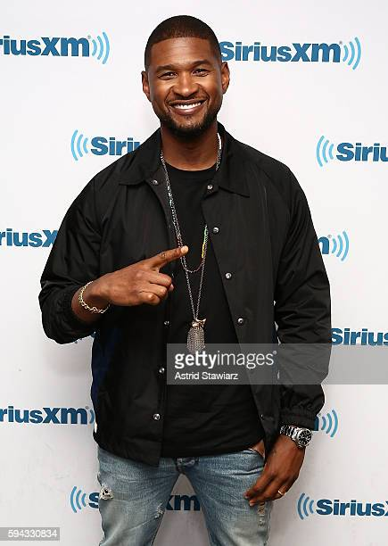 Singer and actor Usher visits the SiriusXM Studios on August 22 2016 in New York City