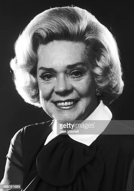 Singer and Actress Alice Faye photographed in New York City in October 1973