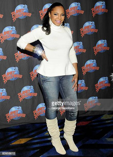 Singer and actress Ashanti visits Planet Hollywood on December 8, 2008 in New York City.
