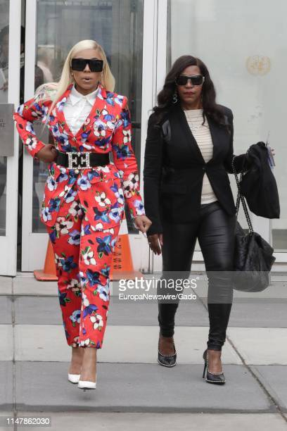 Singer and actress Ashanti visits the United Nations in New York City, New York, April 30, 2019.