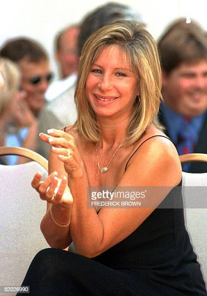 US singer and actress Barbra Streisand smiles during the Hollywood Walk of Fame star ceremony for her husband actor James Brolin 27 August in...