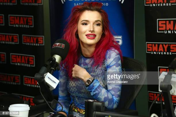 Singer and actress Bella Thorne visits 'Sway in the Morning' with Sway Calloway on Eminem's Shade 45 the SiriusXM Studios on July 17 2017 in New York...