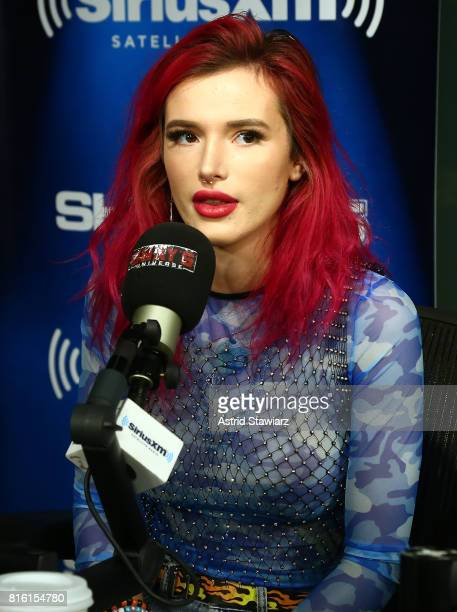 Singer and actress Bella Thorne visits 'Sway in the Morning' with Sway Calloway on Eminem's Shade 45 at the SiriusXM Studios on July 17 2017 in New...