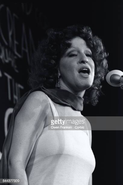 Singer and actress Bette Midler performs a song during the Hasty Pudding Woman of the Year Award ceremony The annual award was presented to her by...