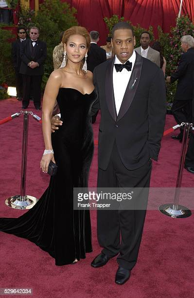 Singer and actress Beyonce her boyfriend rapper and music producer JayZ arrive at the 77th Annual Academy Awards�� at the Kodak Theatre