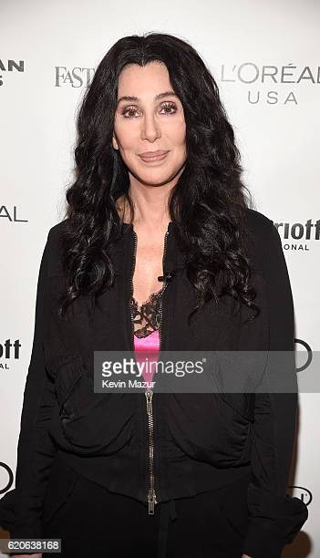Singer and Actress Cher attends the Fast Company Innovation Festival 2016 Cher Doreen Lorenzo at Skirball Center NYU on November 2 2016 in New York...