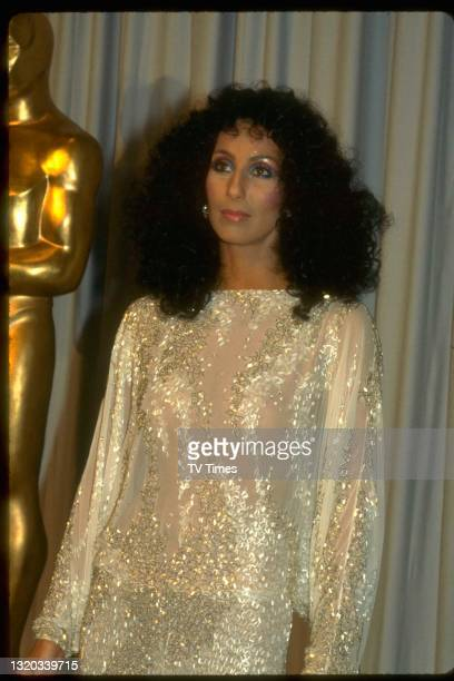 Singer and actress Cher photographed at the 55th Academy Awards in Los Angeles, on April 11, 1983.