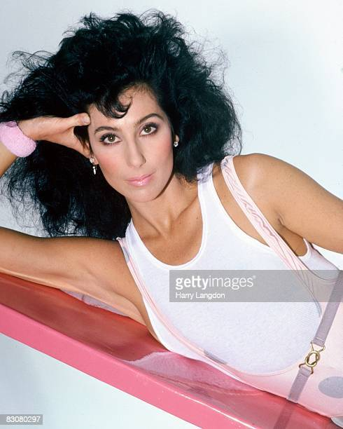 Singer and actress Cher poses for a fashion session in January 1984 in Los Angeles, California.