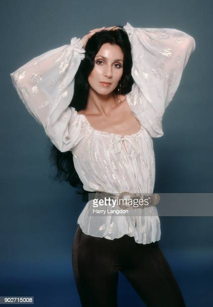 Singer and actress Cher poses for a Fashion Session on March 9 1978 in Los Angeles California