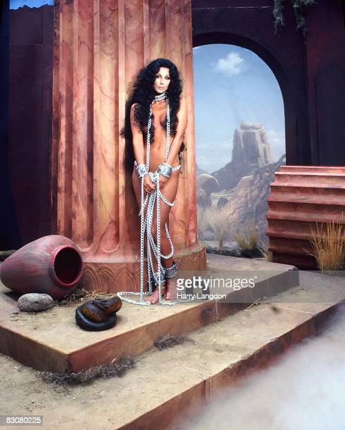 Singer and actress Cher poses for an Album Cover Session for 'The Prisoner' on Casablanca Records in June 1979 in Los Angeles California
