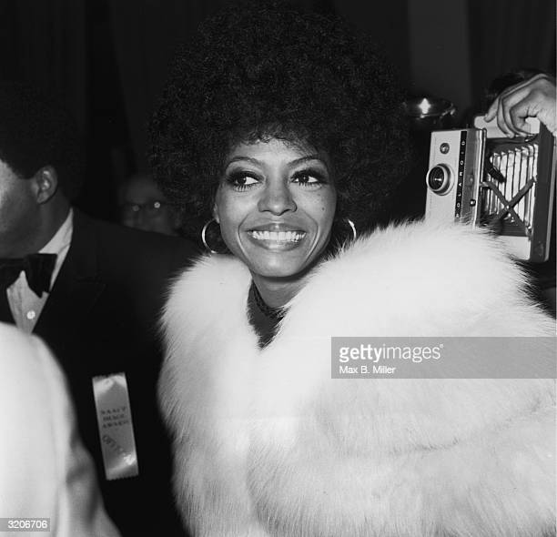 Singer and actress Diana Ross arriving at the 1971 NAACP Black Image Awards