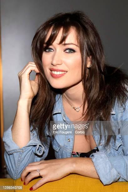 Singer and Actress Elsa Esnoult poses during a portrait session in Paris France on