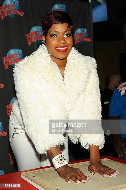 Singer and actress Fantasia attends her handprint ceremony at Planet Hollywood Times Square on April 26, 2013 in New York City.