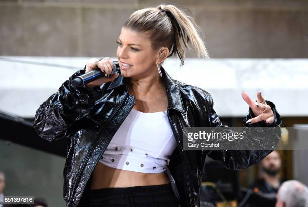 Singer and actress Fergie performs on NBC's 'Today' show at Rockefeller Plaza on September 22 2017 in New York City