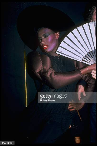 Singer and actress Grace Jones