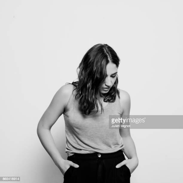 Singer and actress Izia Higelin is photographed for Barclays Label on February 2015 in Paris France