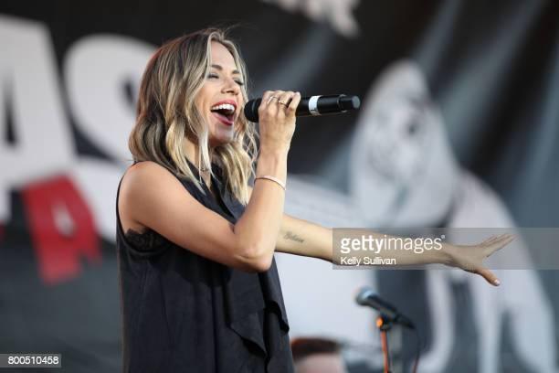 Singer and actress Jana Kramer performs in concert at the SonomaMarin Fair on June 22 2017 in Petaluma California