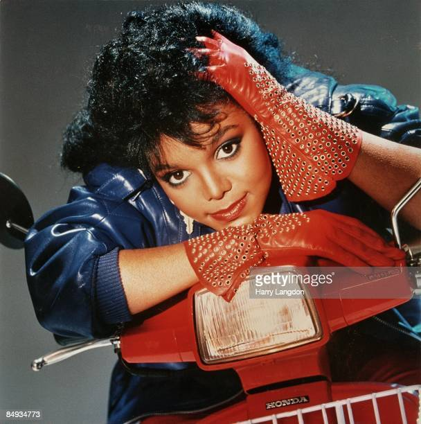 Singer and actress Janet Jackson poses for her 'Dream Street' album cover in 1984 in Los Angeles California