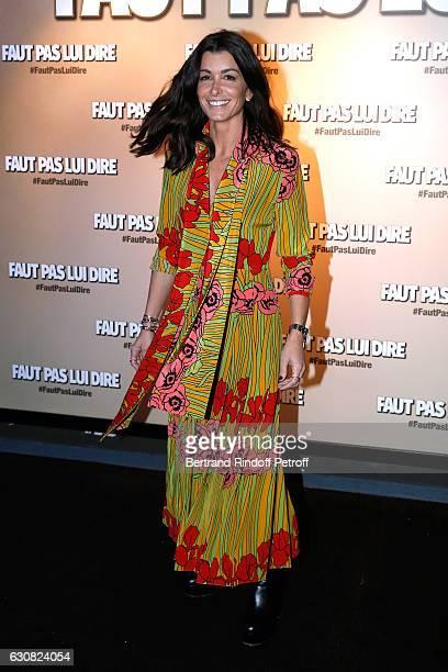 Singer and actress Jenifer Bartoli attends the 'Faut pas lui dire' Paris Premiere at UGC Cine Cite Bercy on January 2 2017 in Paris France