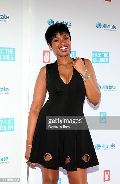 Singer and actress Jennifer Hudson poses for photos on the red carpet during 'We Day' at the Allstate Arena on April 30 2015 in Rosemont Illinois