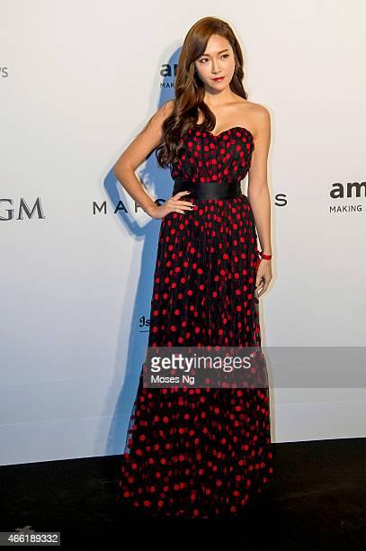 Singer and Actress Jessica Jung on March 14 2015 in Hong Kong Hong Kong the 2015 amfAR Hong Kong gala at Shaw Studios on March 13 2015 in Hong Kong