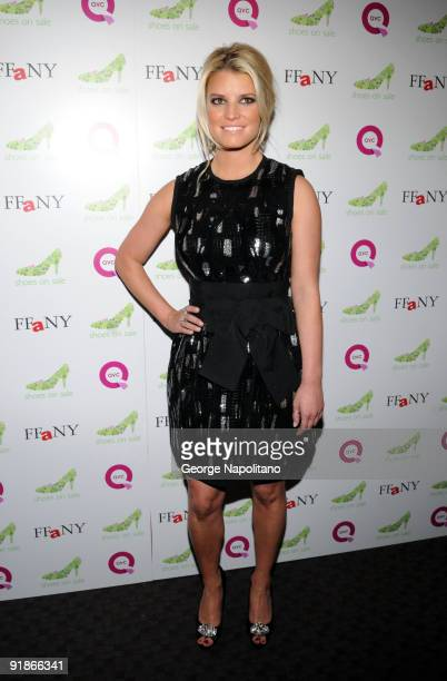 fc4f6a476fbded Singer and actress Jessica Simpson attends the 16th annual QVC Presents  FFANY Shoes on Sale at