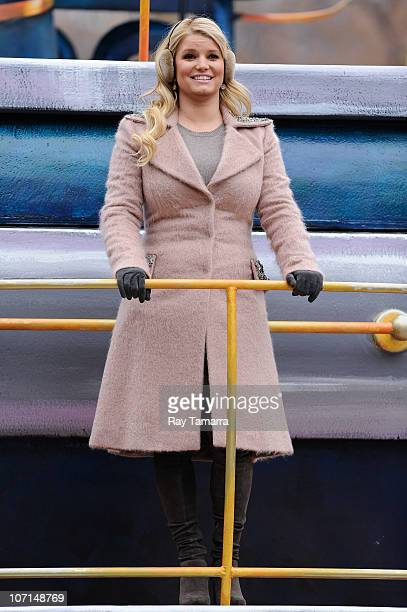 Singer and actress Jessica Simpson attends the 84th Annual Macy's Thanksgiving Day Parade on November 25 2010 in New York City