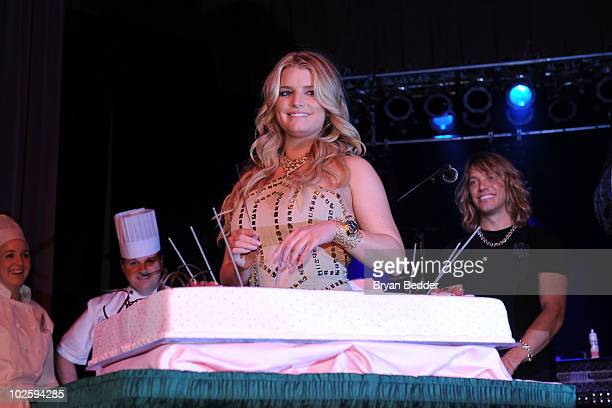 Singer and Actress Jessica Simpson attends the grand opening of the Casino Club at The Greenbrier on July 2 2010 in White Sulphur Springs West...