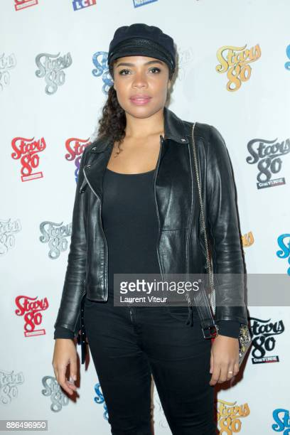 Singer and Actress Jina Djemba attend 'Stars 80 La Suite' Paris Premiere at L'Olympia on December 5 2017 in Paris France