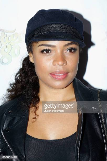 Singer and Actress Jina Djemba attends 'Stars 80 La Suite' Paris Premiere at L'Olympia on December 5 2017 in Paris France