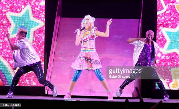 Singer and actress JoJo Siwa performs on a stop of her D.R.E.A.M. The Tour at the Mandalay Bay Events Center on August 10, 2019 in Las Vegas, Nevada.