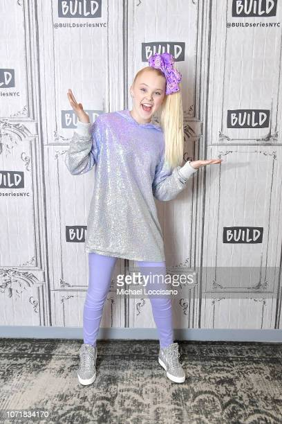 Singer and actress JoJo Siwa visits Build to discuss her tour DREAM at Build Studio on December 11 2018 in New York City