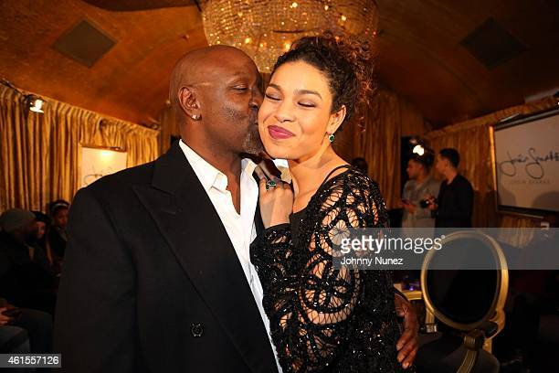 Singer and actress Jordin Sparks and father former NFL player Phillippi Sparks attend the Intimate Conversations With Jordin Sparks event at Gold Bar...