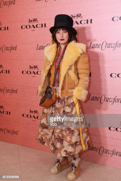 Singer and actress Josie Ho attends Coach reception on July 26 2017 in Hong Kong China