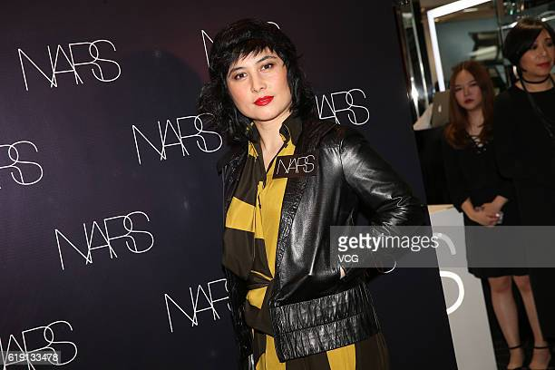 Singer and actress Josie Ho Chiuyi attends the opening ceremony of NARS Cosmetics new store on October 29 2016 in Hong Kong China
