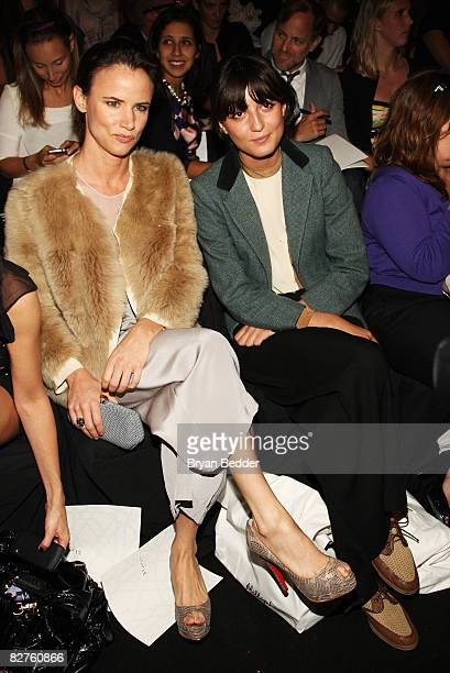 Singer and actress Juliette Lewis and model Irina Lazareanu attend the 31 Phillip Lim Spring 2009 fashion show during MercedesBenz Fashion Week at...