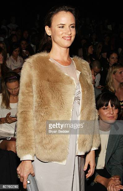 Singer and actress Juliette Lewis attends the 31 Phillip Lim Spring 2009 fashion show during MercedesBenz Fashion Week at The Tent Bryant Park on...