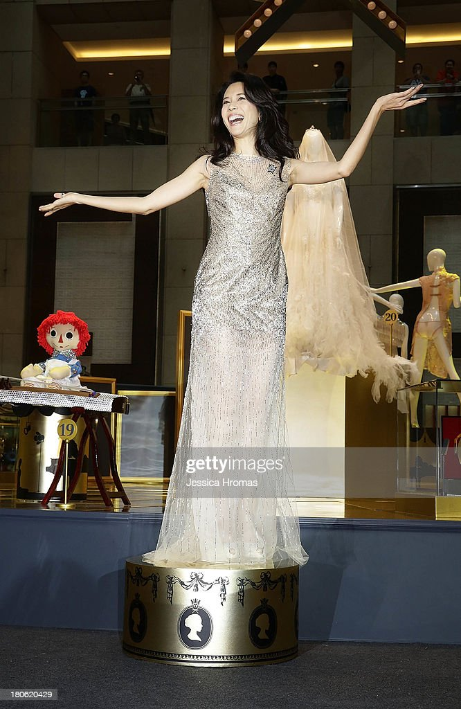 Singer and actress Karen Mok at the openiing of the Karen Mok 20th Anniversary Exhibition at the Landmark building, Central on September 15, 2013 in Hong Kong, Hong Kong.