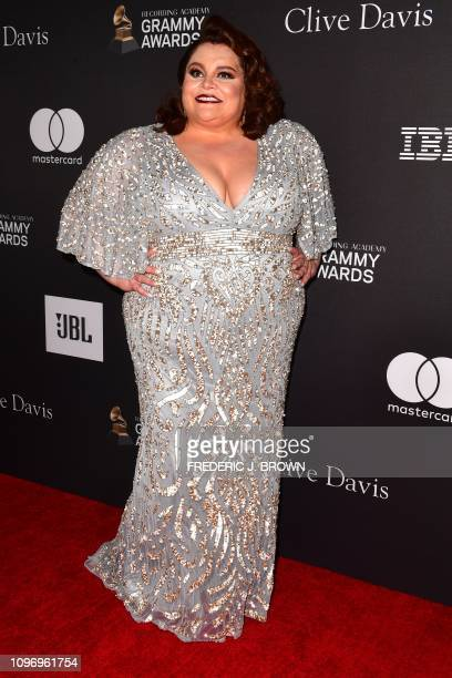 US singer and actress Keala Settle arrives for the traditional Clive Davis party on the eve of the 61th Annual Grammy Awards at the Beverly Hilton...