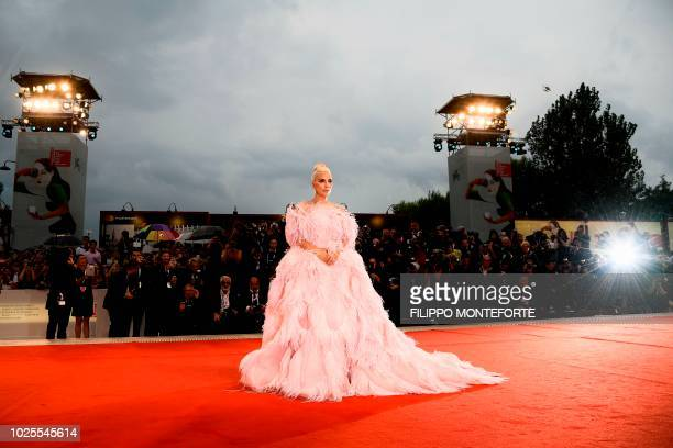 Singer and actress Lady Gaga arrives for the premiere of the film A Star is Born presented out of competition on August 31 2018 during the 75th...