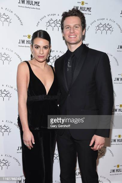 Singer and actress Lea Michele and Zandy Reich attend the New York Stage Film 2019 Winter Gala at The Ziegfeld Ballroom on December 08 2019 in New...