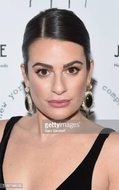 Singer and actress Lea Michele attends the New York Stage Film 2019 Winter Gala at The Ziegfeld Ballroom on December 08 2019 in New York City