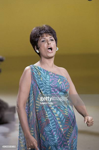 Singer and actress Lena Horne performs on a TV show circa 1968 in Los Angeles California