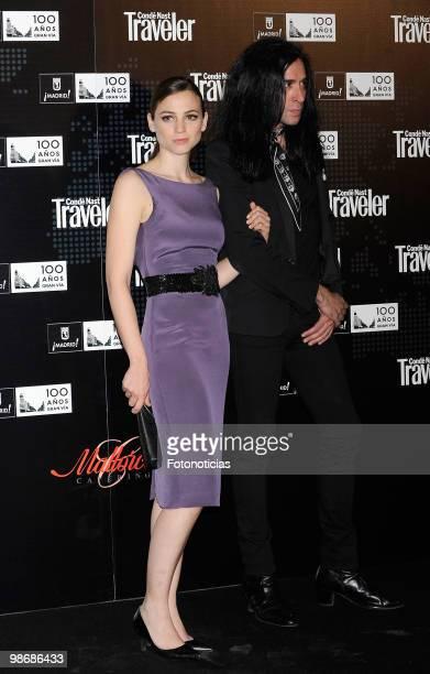 Singer and actress Leonor watling and Mario Vaquerizo attend 'Conde Nast Traveler 2010' awards ceremony, held at the Jardines de Cecilio Rodriguez on...