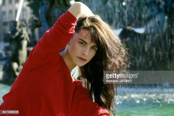 Singer and actress Lio in Lisbon in July 1991 in Lisbon Portugal