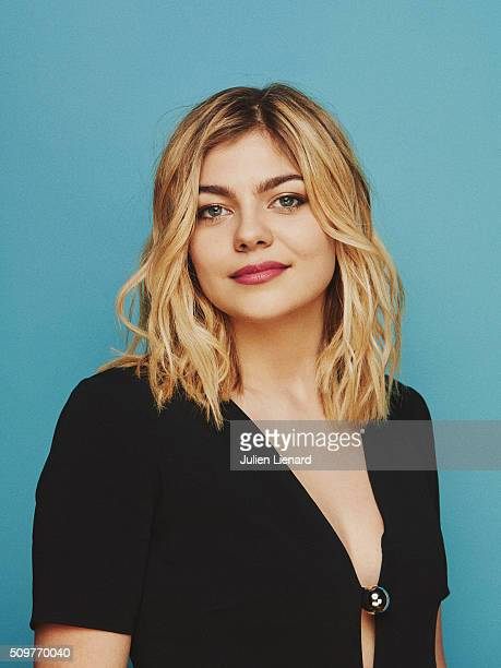 Singer and actress Louane Emera is photographed for for Self Assignment on February 2, 2016 in Paris, France.
