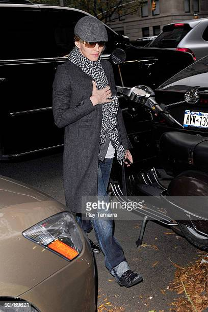 Singer and actress Madonna is seen browsing Upper East Side November 04 2009 in New York City